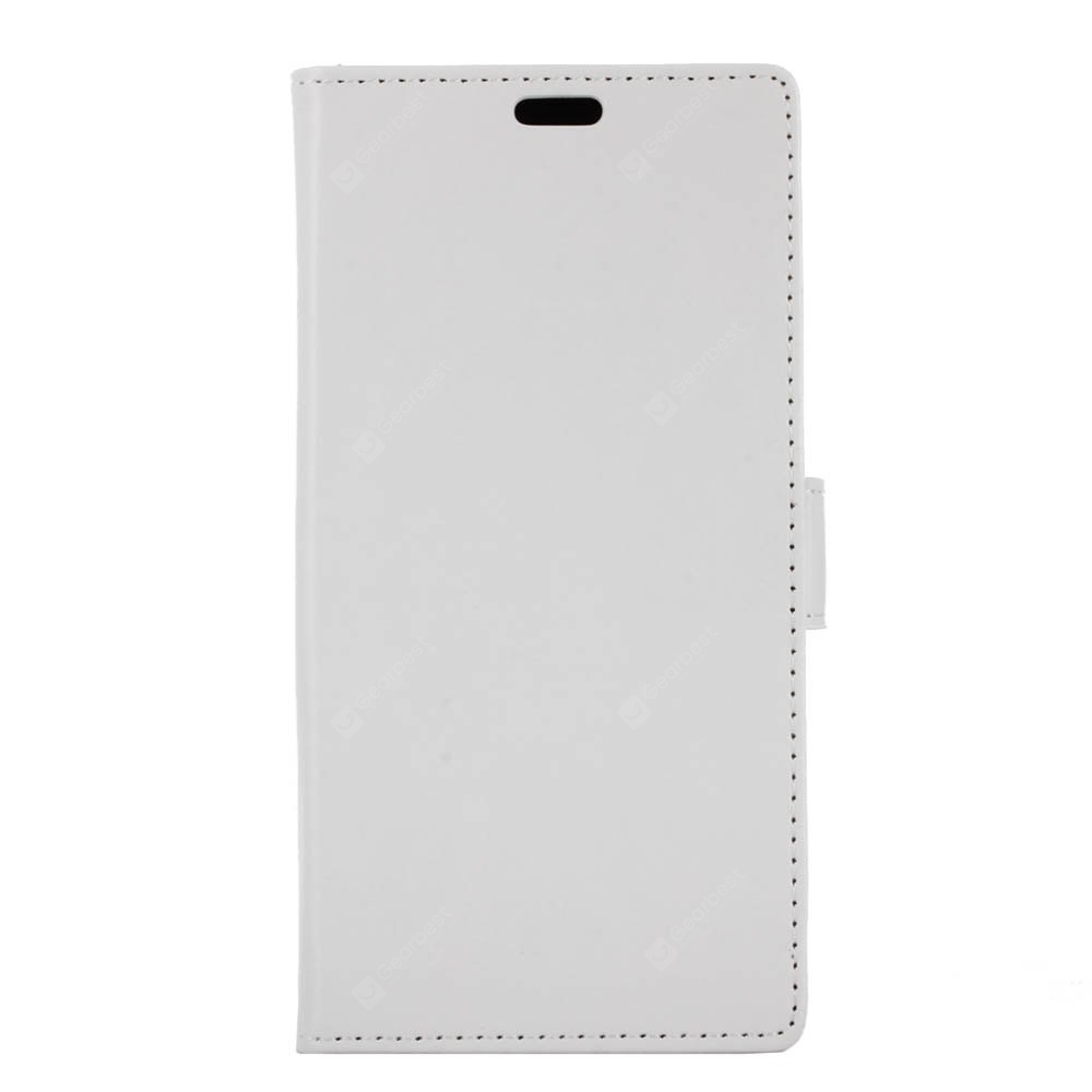 WHITE Kazine Crazy Horse Texture Surface Leather Wallet Case for Alcatel A30