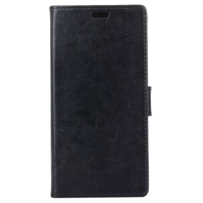 Buy BLACK Kazine Crazy Horse Texture Leather Wallet Case for Alcatel pixi 4 5.0 for $3.85 in GearBest store