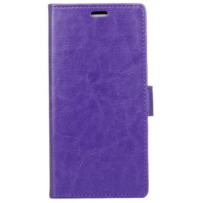 Buy PURPLE Kazine Crazy Horse Texture Leather Wallet Case for Alcatel Pixi First for $3.85 in GearBest store