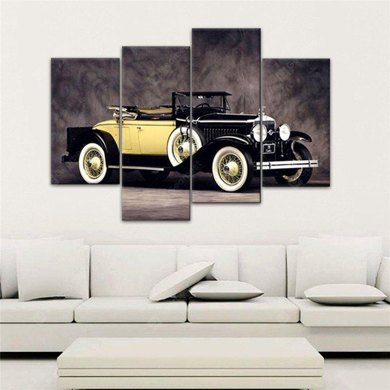 COLORMIX 4PCS Sports Car Printed Painting Canvas Unframed Wall Art