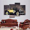 4PCS Sports Car Printed Painting Canvas Unframed Wall Art - COLORMIX