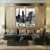 2PCS European City Streets Printed Painting Canvas Print Unframed Wall Art - COLORMIX