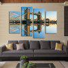 4PCS Tower Bridge Scenery Printed Painting Canvas Unframed Wall Art - COLORMIX