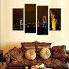 4PCS Statue of Liberty Printed Painting Canvas Unframed Wall Art - COLORMIX