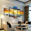 5PCS Sea Sunset Printed Painting Canvas Unframed Wall Art - COLORMIX
