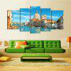 5PCS Venice Cityscape Printed Painting Canvas Unframed Wall Art - COLORMIX