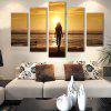 5PCS Beautiful Sunset Printed Painting Canvas Unframed Wall Art - COLORMIX