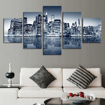 Buy COLORMIX 5PCS Urban Landscape Printed Canvas Unframed Wall Art for $22.05 in GearBest store