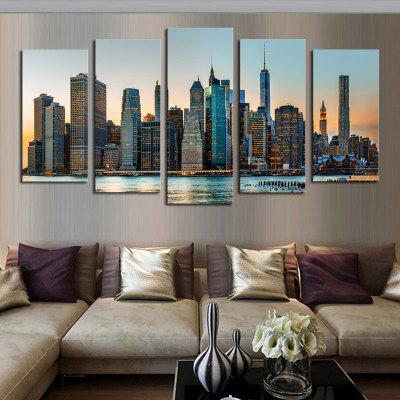 5PCS Prosperity City Printed Canvas Unframed Wall ArtPrints<br>5PCS Prosperity City Printed Canvas Unframed Wall Art<br><br>Craft: Print<br>Form: Five Panels<br>Material: Canvas<br>Package Contents: 5 x Prints<br>Package size (L x W x H): 35.00 x 5.00 x 5.00 cm / 13.78 x 1.97 x 1.97 inches<br>Package weight: 0.5000 kg<br>Painting: Without Inner Frame<br>Product size (L x W x H): 30.00 x 80.00 x 1.00 cm / 11.81 x 31.5 x 0.39 inches<br>Product weight: 0.3900 kg<br>Shape: Horizontal Panoramic<br>Style: European Style, Artistic Style<br>Subjects: Landscape<br>Suitable Space: Living Room,Bedroom,Dining Room,Pathway