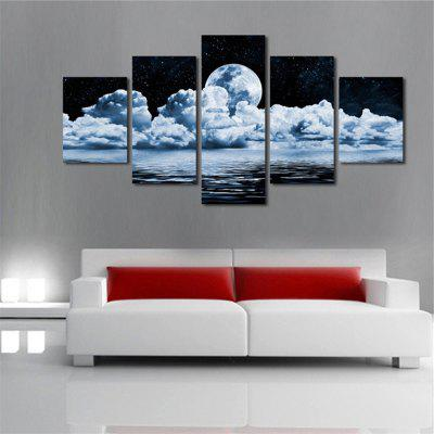 Buy COLORMIX 5PCS Stars Moon Printed Canvas Unframed Wall Art for $22.05 in GearBest store