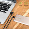 Micro Usb Barided Cable Elbow Charging Line - BLACK