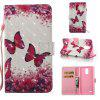 Rose Butterfly 3D Painted Pu Phone Case for Lg Stylus3 Ls777 - COLORMIX