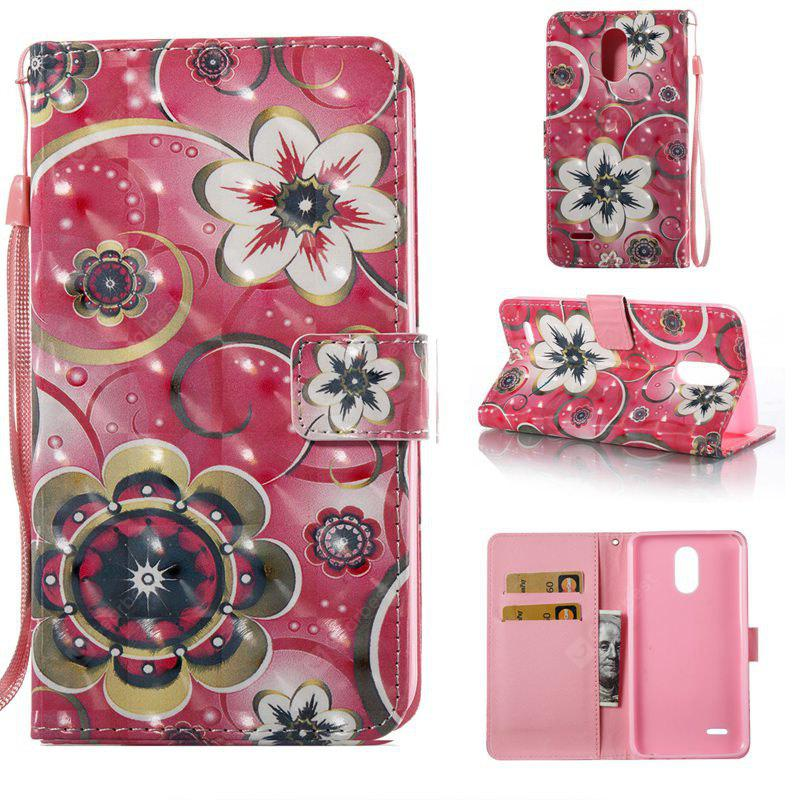 Tulip Flower 3D Painted Pu Phone Case for Lg Stylus3 Ls777