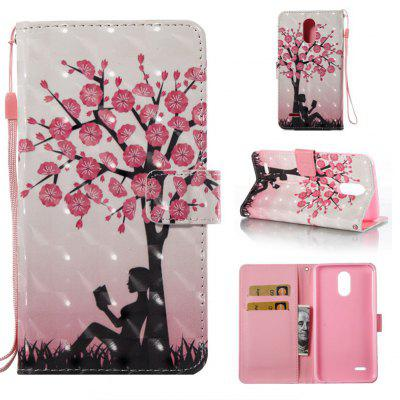 Buy COLORMIX Plum Tree Girl 3D Painted Pu Phone Case for Lg Stylus3 Ls777 for $5.27 in GearBest store
