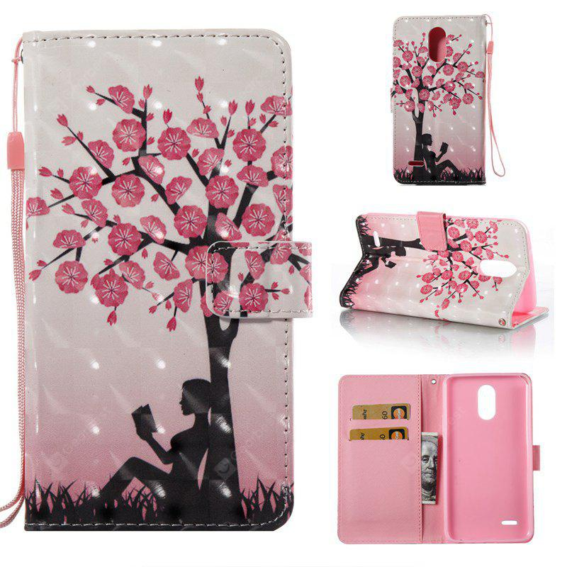 Plum Tree Girl 3D Painted Pu Phone Case for Lg Stylus3 Ls777