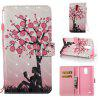 Plum Tree Girl 3D Painted Pu Phone Case for Lg Stylus3 Ls777 - COLORMIX