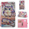 Purple Owl 3D Painted Pu Phone Case for Lg Stylus3 Ls777 - COLORMIX
