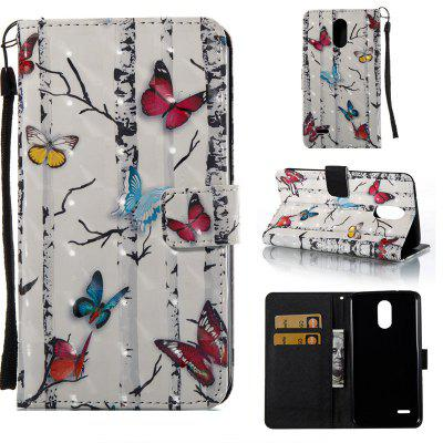 Buy COLORMIX Butterflies 3D Painted Pu Phone Case for Lg Stylus3 Ls777 for $5.27 in GearBest store