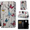 Butterflies 3D Painted Pu Phone Case for Lg Stylus3 Ls777 - COLORMIX