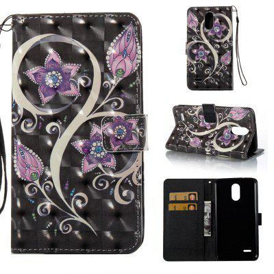 Peacock Flower 3D Painted Pu Phone Case for Lg Stylus3 Ls777