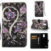 Peacock Flower 3D Painted Pu Phone Case for Lg Stylus3 Ls777 - COLORMIX
