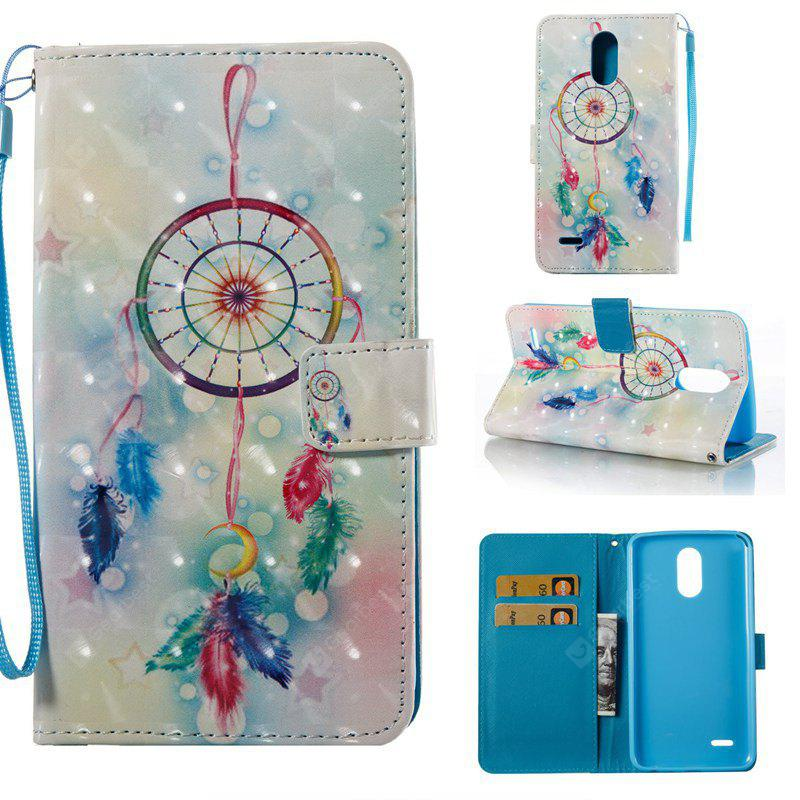Feather Wind Chimes 3D Painted Pu Phone Case for Lg Stylus3 Ls777