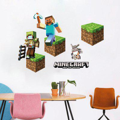 3D Game Stage Mode Wall Sticker Decoration Kid Bedroom DecalWall Stickers<br>3D Game Stage Mode Wall Sticker Decoration Kid Bedroom Decal<br><br>Brand: DSU<br>Function: Decorative Wall Sticker<br>Material: Self-adhesive Plastic<br>Package Contents: 1 x Wall Sticker<br>Package size (L x W x H): 52.00 x 5.00 x 5.00 cm / 20.47 x 1.97 x 1.97 inches<br>Package weight: 0.1600 kg<br>Product size (L x W x H): 70.00 x 50.00 x 0.01 cm / 27.56 x 19.69 x 0 inches<br>Product weight: 0.1100 kg<br>Quantity: 1<br>Subjects: Fantasy,Game<br>Suitable Space: Game Room<br>Type: Plane Wall Sticker