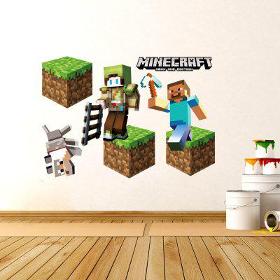 3D Game Stage Mode Wall Sticker Decoration Kid Bedroom Decal