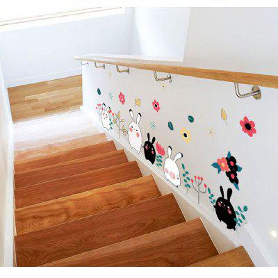 Cartoon Cat Rabbit Flower Wall Sticker for Baby Girls Kids RoomsWall Stickers<br>Cartoon Cat Rabbit Flower Wall Sticker for Baby Girls Kids Rooms<br><br>Brand: DSU<br>Color Scheme: Others<br>Effect Size (L x W): 150 x 60cm<br>Function: Decorative Wall Sticker<br>Layout Size (L x W): 60 x 90cm<br>Material: Self-adhesive Plastic<br>Package Contents: 1 x Wall Sticker<br>Package size (L x W x H): 60.00 x 5.00 x 5.00 cm / 23.62 x 1.97 x 1.97 inches<br>Package weight: 0.1100 kg<br>Product size (L x W x H): 60.00 x 90.00 x 0.10 cm / 23.62 x 35.43 x 0.04 inches<br>Product weight: 0.0600 kg<br>Quantity: 1<br>Subjects: Fashion,Cute,Cartoon<br>Suitable Space: Hotel,Kids Room,Kids Room,Boys Room,Girls Room<br>Type: Plane Wall Sticker