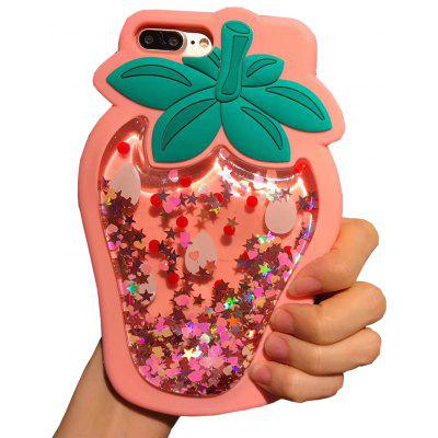 Buy PINK Glitter Bling Strawberry Dynamic Quicksand Cases for Iphone 6/6S Plus for $5.24 in GearBest store