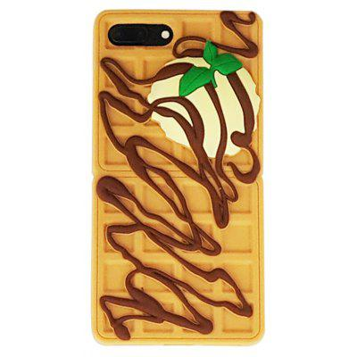 Buy YELLOW Cartoon Chocolate Waffles Cover Fundas for Iphone 7 for $3.46 in GearBest store