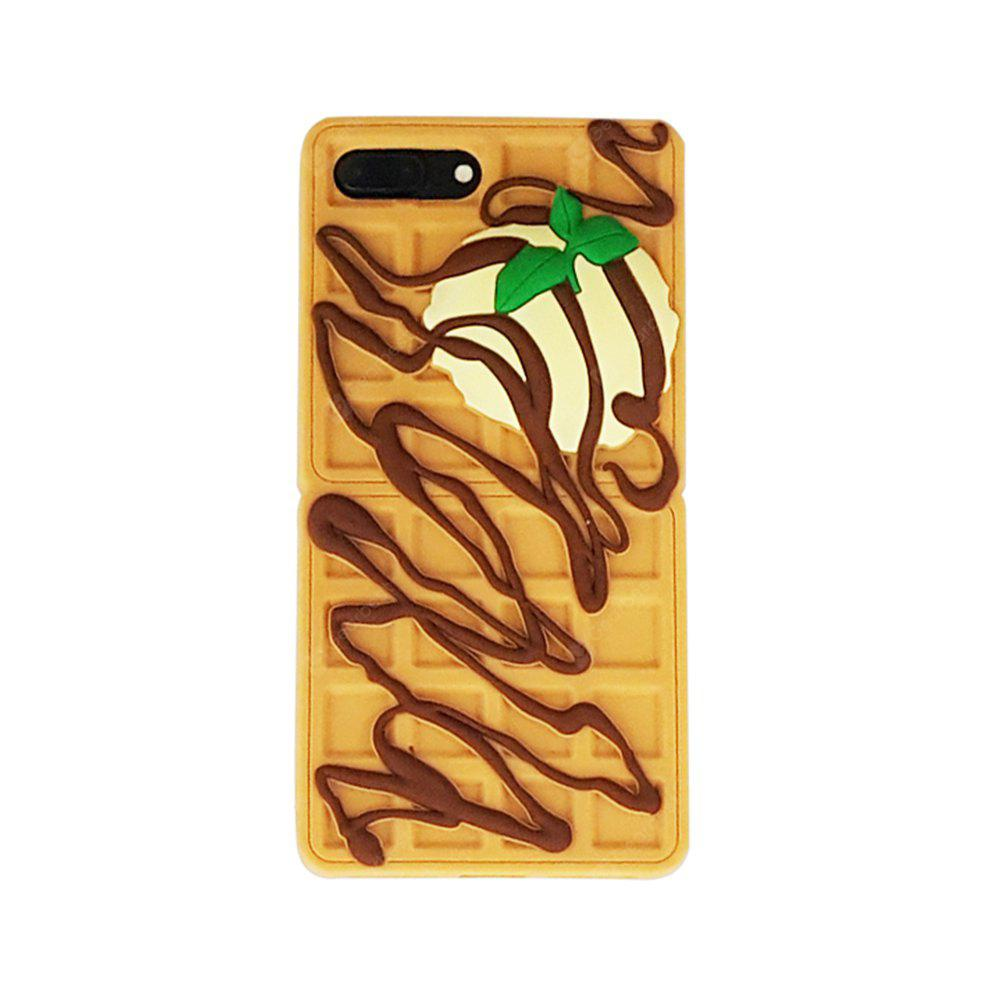 YELLOW Cartoon Chocolate Waffles Cover Fundas for Iphone 7 Plus