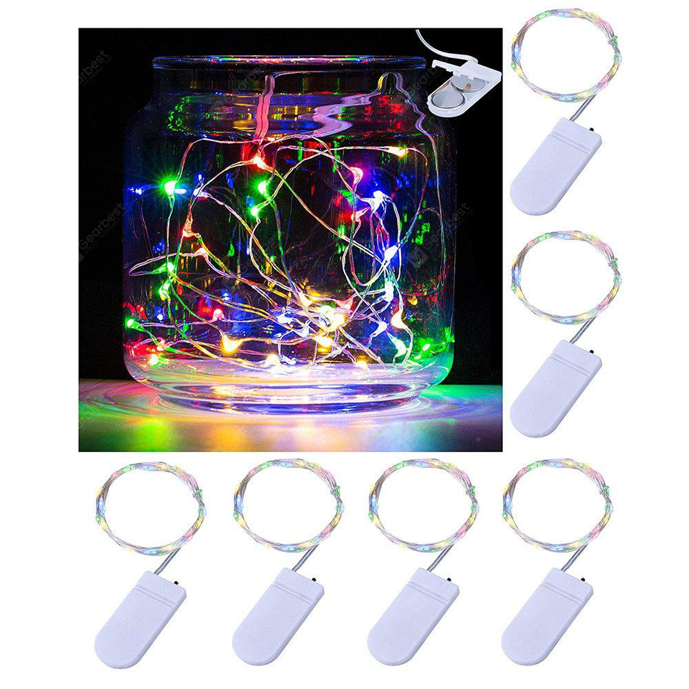 COLORFUL Supli Led String Lights Battery Operated 12M (2M x 6) 120 Leds Copper Wire Lights for Indoor Home Valentines Day Wedding Party