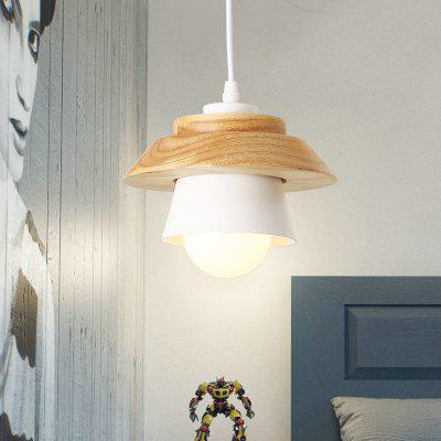 Buy WHITE Brightness Northern Europe Simplicity Modern Wood Pendant Light Metal Living Room Dining Room Cafe Lighting for $67.09 in GearBest store