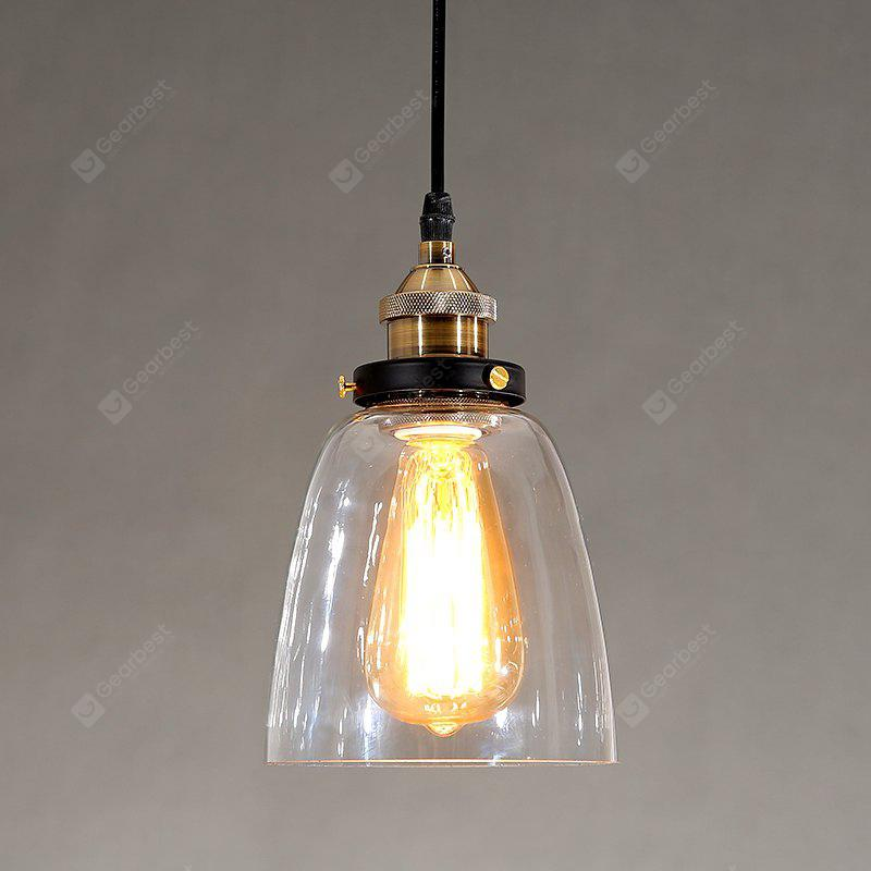 Cxylight (Cxylight) Industrial Edison Simplicity Glass Pendant Lights Metal Base Cap Dining Room / Study Room/Office / Hallway Light Fixture Dd-008