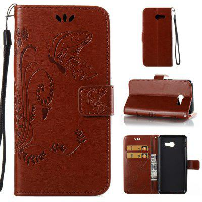 Buy DEEP BROWN Wkae Flowers Embossing Pattern PU Leather Flip Stand Case Cover for Samsung Galaxy J5 2017 American Edition for $5.78 in GearBest store