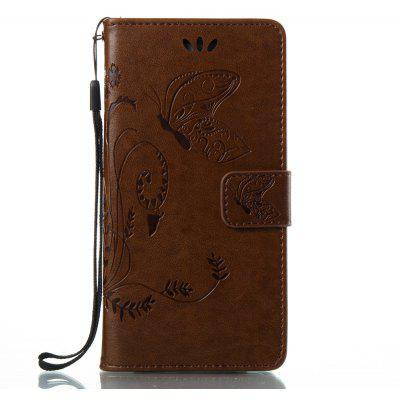 Wkae Flowers Embossing Pattern PU Leather Flip Stand Case Cover for Samsung Galaxy J5 Prime
