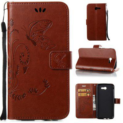 Buy DEEP BROWN Wkae Flowers Embossing Pattern PU Leather Flip Stand Case Cover for Samsung Galaxy J7 2017 American Edition for $5.78 in GearBest store
