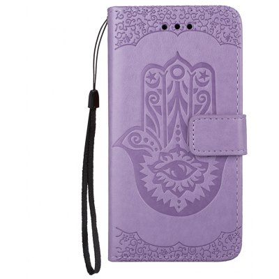 Wkae Embossed Leather Case Cover with Insert Card Slots And Kickstand for Huawei Hornor 8