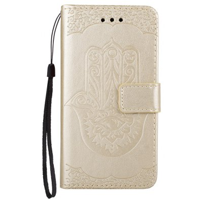 Wkae Embossed Leather Case Cover with Insert Card Slots And Kickstand for Samsung Galaxy J3 2017 European Edition