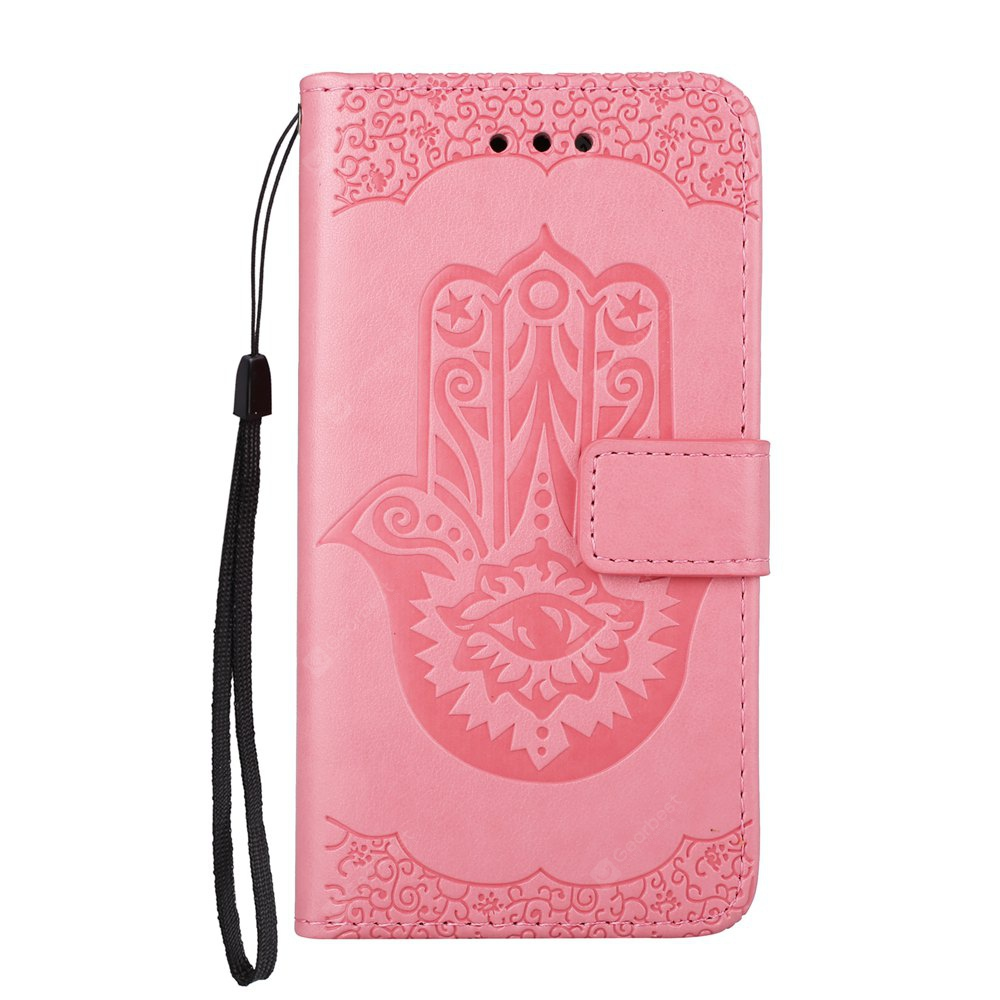 Wkae Embossed Leather Case Cover with Insert Card Slots And Kickstand for Samsung Galaxy J5 2017 European Edition