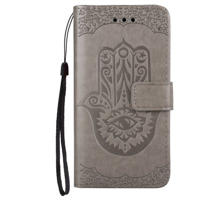 Wkae Embossed Leather Case Cover with Insert Card Slots And Kickstand for Samsung Galaxy Note 8