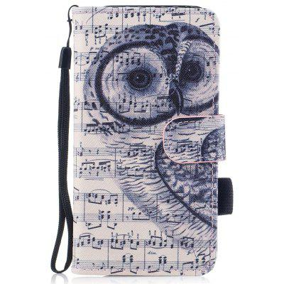 Color Pattern Flip PU Leather Wallet Case with Sling for Samsung Galaxy A5 (2017 Version)