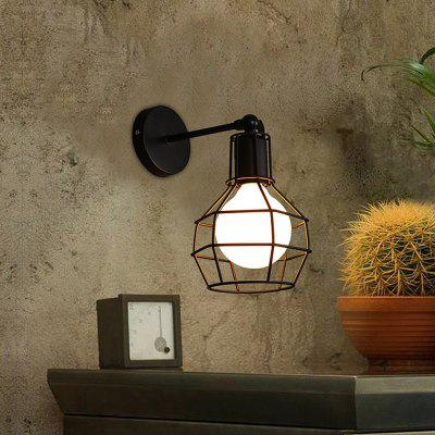 Everflower Creative Loft Industrial Wind Wall Light Retro Restaurant kitchen BedroomIron Cage Lamp E26 / E27 B - 002
