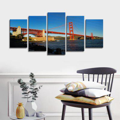 Buy COLORMIX Stetched Goldgen Gate Bridge Canvas Print modern Wall Art for Office Decoration Ready To Hang for $53.73 in GearBest store