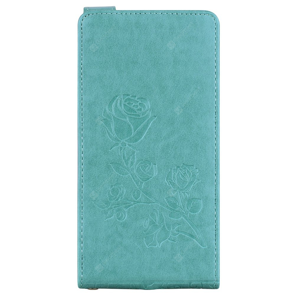 Embossed Rose Flower Pattern Vertical Flip Leather Case with Card Slot for Xiaomi Redmi 3S/3 Prime