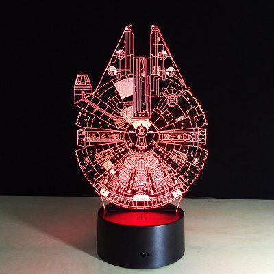 ... Yeduo New 3D Battleship Spacecraft Led Illusion Mood Lamp Bedroom Table  Lamp Night Light Bulbing Child ...