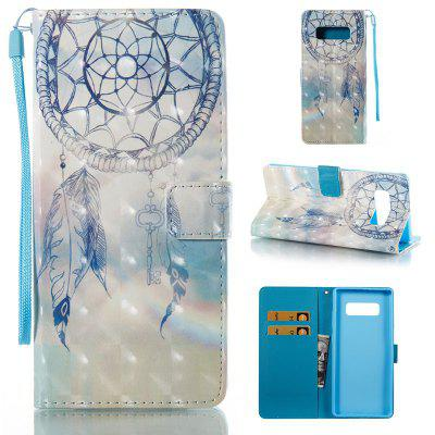 Dream Chimes 3D Painted Pu Phone Case for Samsung Galaxy Note 8