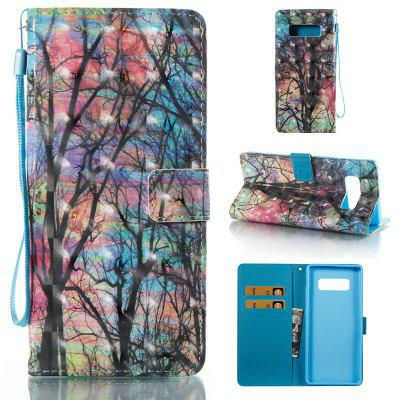 Colored Tree 3D Painted Pu Phone Case for Samsung Galaxy Note 8