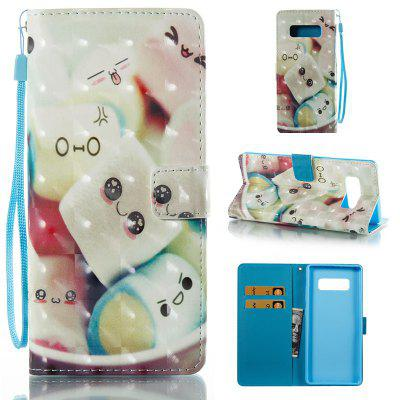 Towel Cake 3D Painted Pu Phone Case for Samsung Galaxy Note 8